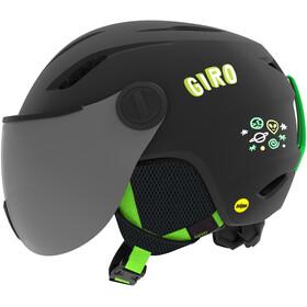 Giro Buzz MIPS Kypärä Lapset, matte black/bright green alien
